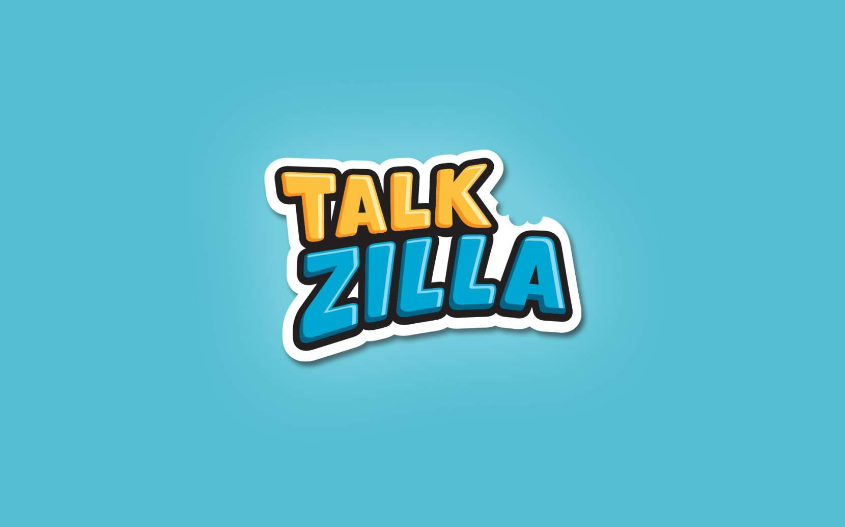logo, cartoon, typography, talkzilla, design, branding, app, talk, illustrative, illustration, character, mascot, wizmaya, studio, animation